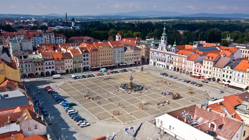 glavni trg ceske budejovice