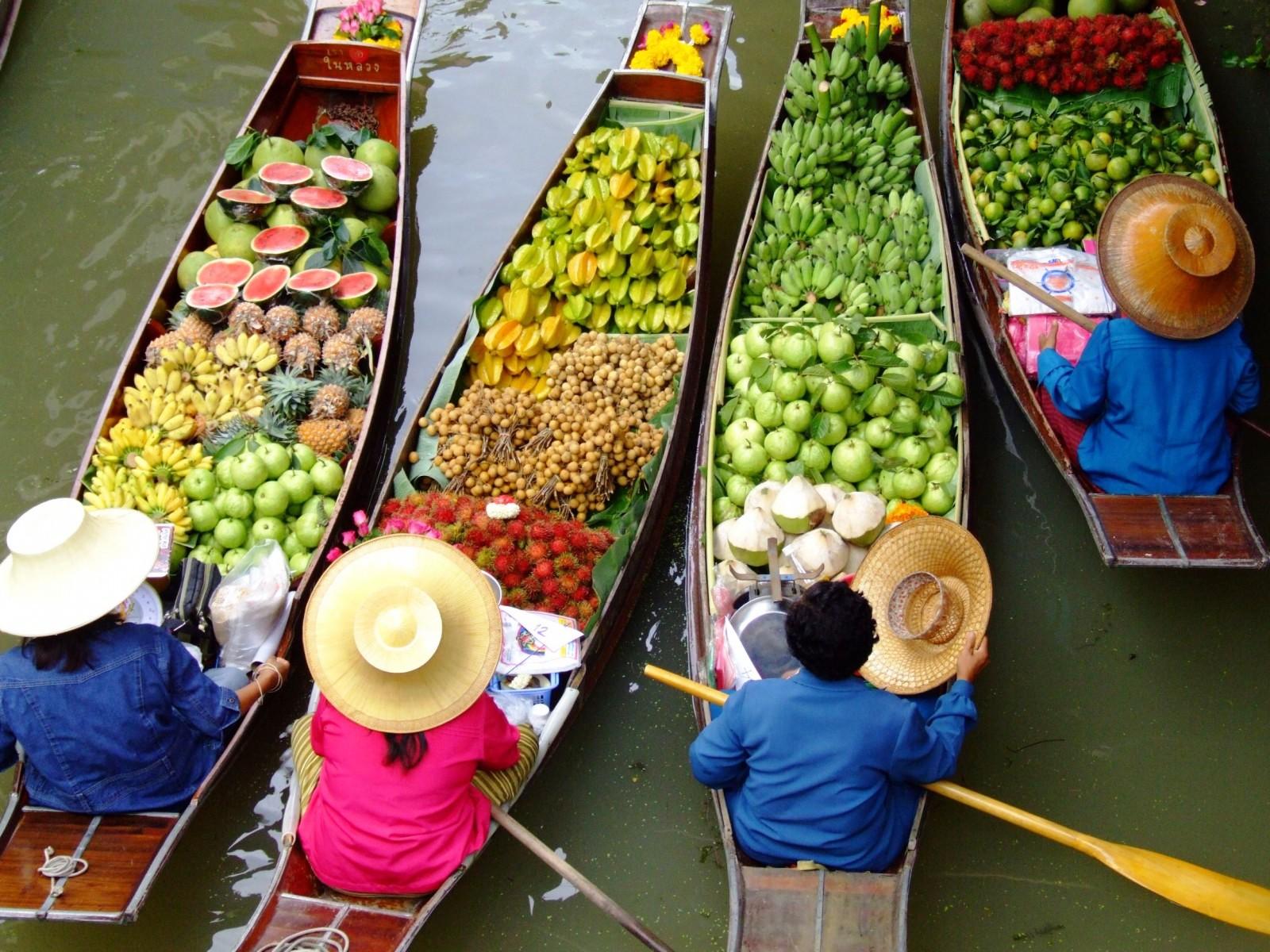 plutajuca pijaca bangkok tajland